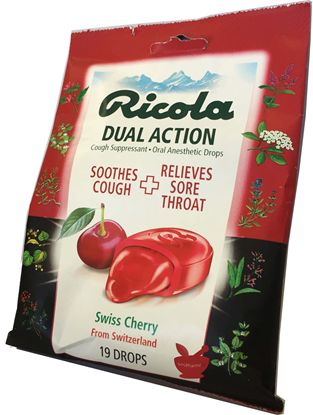 Ricola Swiss-Cherry® Cough Suppressant Oral Anesthetic Drops - 24ct