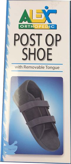 Alex Orthopedic Post Op Shoe With Removable Tongue