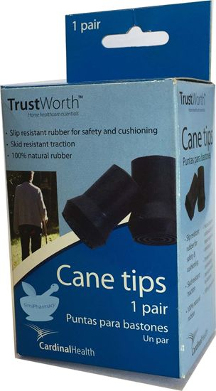TrustWorth Cane Tips 1 Pair