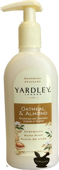 Yardley London Oatmeal Almond Moisturizes Nourishes Hand Soap