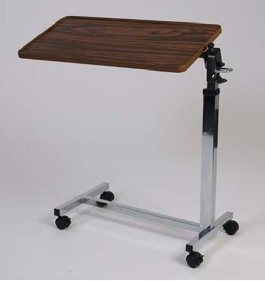 Adjustable Overbed Table With Tilt Top