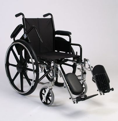 High Strength Lightweight Wheelchair With Padded Elevating Footrests
